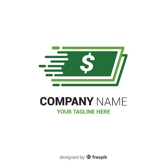 Geld konzept logo vorlage