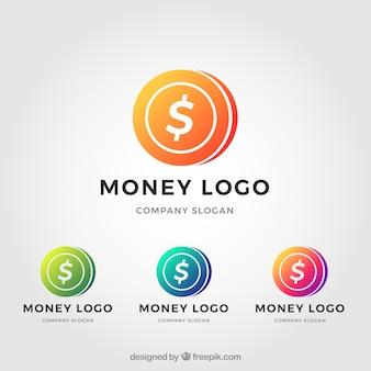 Geld-logo-vorlage-set