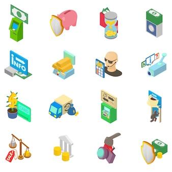 Geld mäzenatentum icon set