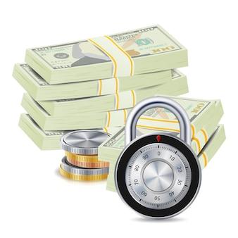 Geld sicheres konzept