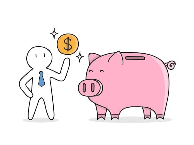 Geld sparen hintergrund