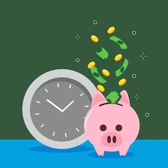 Geld sparen illustration