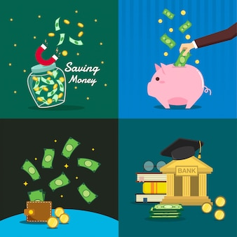 Geld sparen illustration