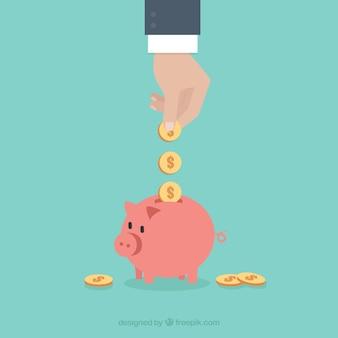 Geld sparen in der wirtschaft
