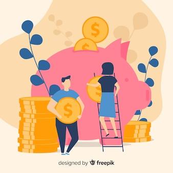 Geld sparen konzept