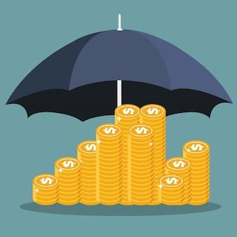 Geld sparen und schützen