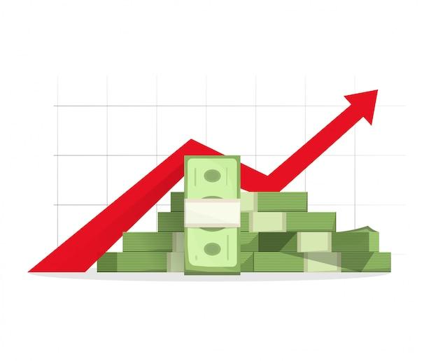 Geld steigender gewinn