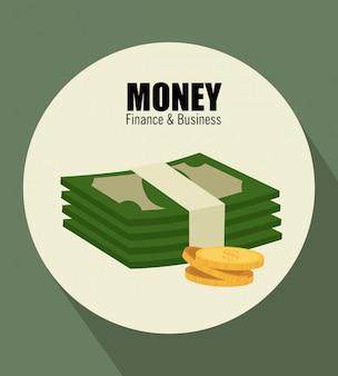 Geld über grün