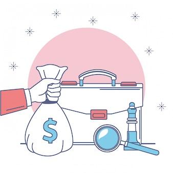 Geld und business-symbol