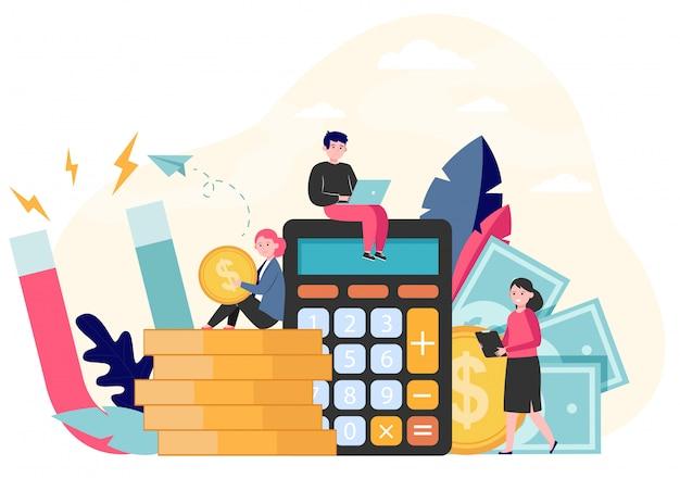 Geld- und einkommensattraktion
