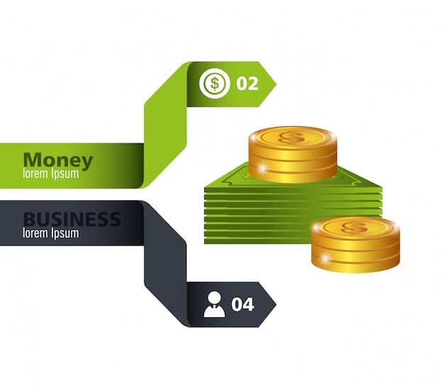 Geld und geschäftsgestaltung.