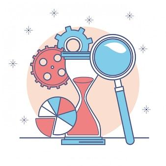 Geld und geschäftsikonendesign, finanzhandelsmarktzahlung investieren und kaufen thema vektorillustration