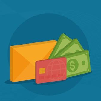 Geld- und geschäftsillustration