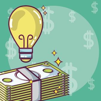 Geld und und geschäftsideenkonzept