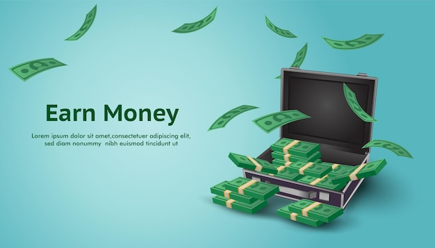 Geld verdienen hintergrund erhöhen die finanzielle investition financial