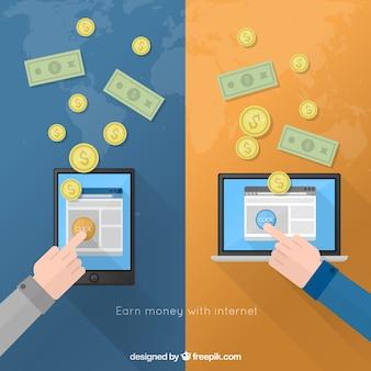Geld verdienen mit internet-
