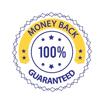 Geld-zurück-garantiertes vektor-trust-abzeichen