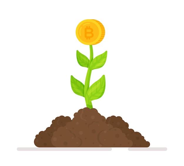 Geldbaum mit goldmünzen finanzen und banken sparen und investieren