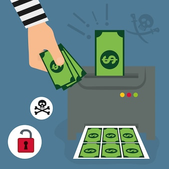 Geldbetrug und hacking-design