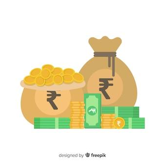 Geldbeutel aus indischer rupie