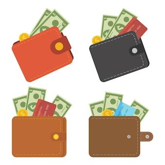 Geldbörse mit geld.