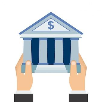 Gelddesign über weißer Hintergrundvektorillustration