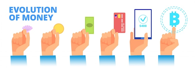 Geldentwicklung. vom tauschhandel zur kryptowährung.