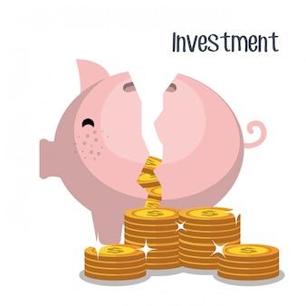 Geldersparnisse und investitionen