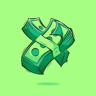 Geldkarikaturillustration