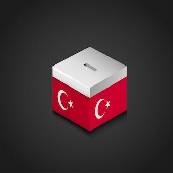 Geldkasten mit türkischem designvektor