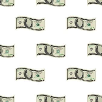 Geldmuster lokalisiert auf weißem hintergrund. vektor-illustration.
