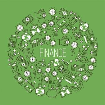 Geldmusterfinanzbank-geldkasten mit investitionssparungen