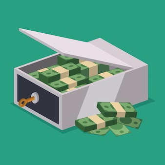 Geldschrank design.