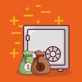 Geldschrank und geld design