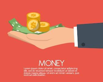 Geldsparendesign, Vektorillustration