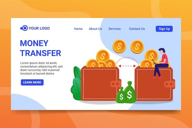 Geldüberweisung landing page