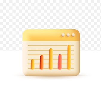Geldwachstumskonzept gelb erhöhen. 3d-vektor-illustration auf weißem transparentem hintergrund