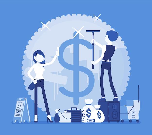 Geldwäsche-verbrechen illustration