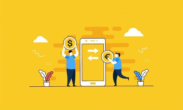 Geldwechsel abbildung