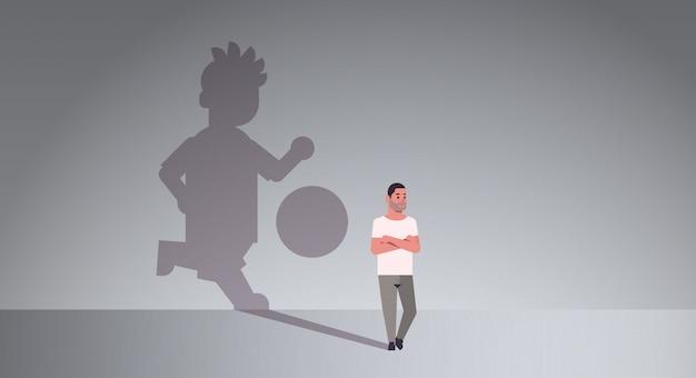 Gelegenheitsmann träumt davon, fußball zu spielen