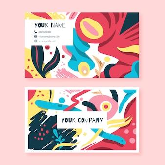 Gemalte abstrakte visitenkarte