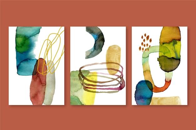 Gemalte aquarellformenabdeckungen