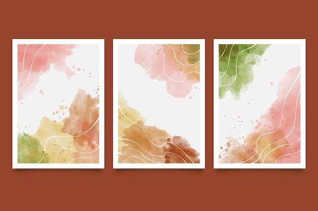 Gemalte sammlung der abstrakten kunstabdeckung