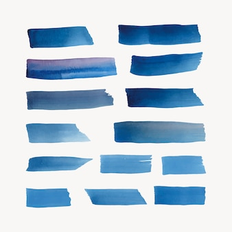 Gemalter aquarellhintergrundvektor im blau