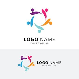 Gemeinschafts- und adoptionspflege logo-vektor-icon-vorlage
