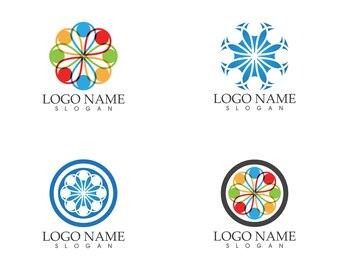 Gemeinschaftsleute interessieren sich Logo-Design-Vorlage