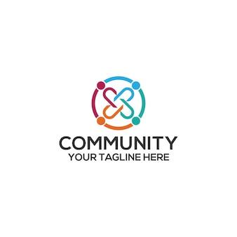 Gemeinschaftslogoschablonenvektor. gemeinschaftslogo-konzeptvektor