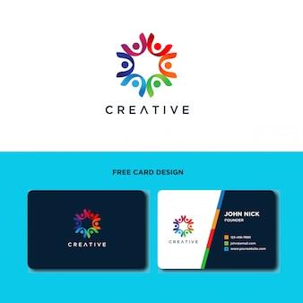 Gemeinschaftsmenschpflege logo design