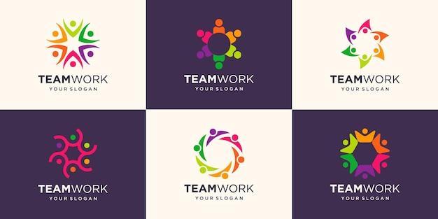 Gemeinschaftssymbol-illustrationsdesign