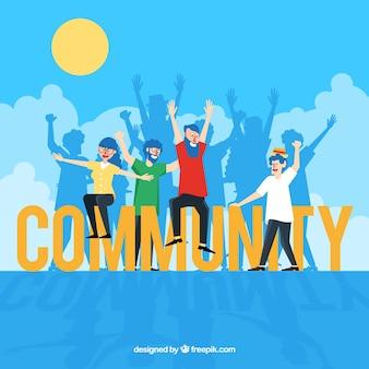 Gemeinschaftswort-konzept